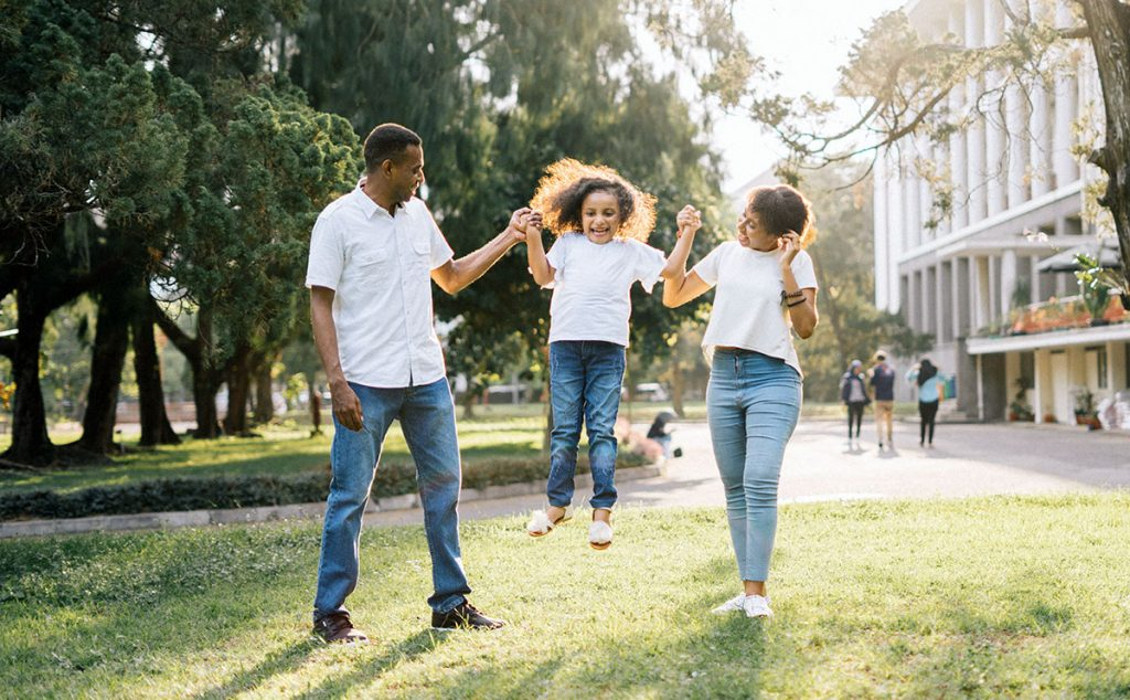 Interracial family happy they used Dream Key Mortgage for their Refinance Toronto
